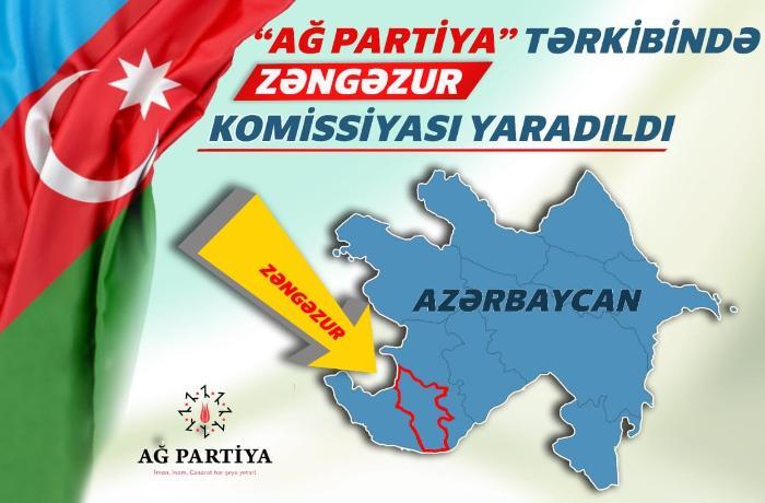 AĞ Partiya Zəngəzur Komissiyasının tərkibi müəyyənləşib